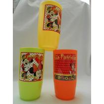 10 Vasos Infantiles Personalizados Etiqueta Plastificada