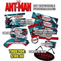 Antman Kit Imprimible Completo Invitaciones Etiquetas Y Mas!