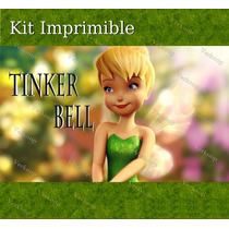 Kit Imprimible Tinker Bell Campanita Invitaciones Tarjetas
