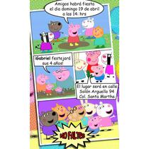 Invitacion Comic 100% Personalizada Mide 9x15cm (30 Pieza)