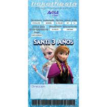 Invitaciones Infantiles Personalizadas T/ticket Imprimible