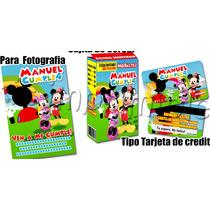 La Casa De Mickey Mouse Kit Imprimble Para Cumpleaños!