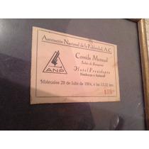 Boleto De Evento 1964, Coleccionable (384)
