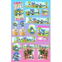 Kit Imprimible Los Pitufos Personalizado Mas De 30 Etiquet