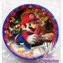 Todo Para Tu Fiesta De Mario Bros. Platos Vasos Y Más.