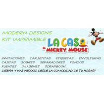 Kit Imprimible Casa De Mickey Mouse Adornos Invitaciones Y+