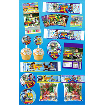 Kit Imprimible Buzz Lightyear Personalizado 30 Etiquetas