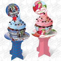 Kit Imprimible Fiesta Infantil Kupcake Base Capecillo Topper