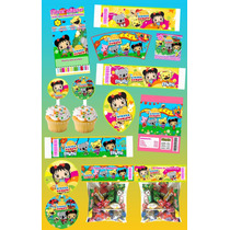 Kit Imprimible Ni Hao Kai Ian Personalizado 30 Etiquetas
