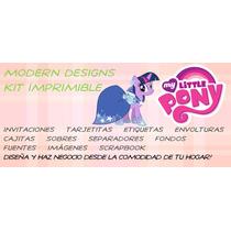 Kit Imprimible My Little Pony Adornos Invitaciones Y+
