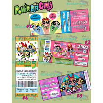 Invitaciones Power Puff Girls-chicas Superpoderosas