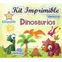Kit Imprimible Dinosaurios + Candy Bar Invitaciones Fiesta M