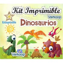 Kit Imprimible Dinosaurios + Candy Bar Invitaciones Fiesta M