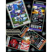 Invitaciones De Transformers-invitaciones Infantiles