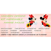 Kit Imprimible Minnie Mouse Adornos Invitaciones Y+