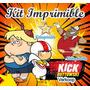 Kit Imprimible Kick Buttowski Candy Bar Invitaciones Fiesta