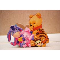 Centro De Mesa Pooh Y Sus Amigos Para Fiestas Infantiles