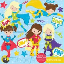 Kit Imprimible Superheroes 4 Imagenes Clipart