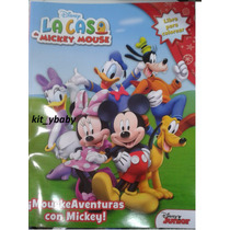 Fiesta De Minnie Y Mickey Mouse, Libro P/ Colorear 80 Págs