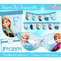 Kit Imprimible Frozen - Decoraciones, Cajitas E Invitaciones