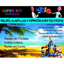 Kit Imprimible Rio Diseñá Tarjetas Cumples Invitaciones #2