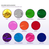 100 Bolsas Metalizada Bolsa Dulceros !!! Elige Tu Color !!!