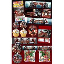 Kit Imprimible Iron Man Y War Machine Mas De 30 Etiquetas