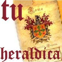 Tu Apellido En Precioso Pergamino Heraldico! El Regalo Ideal