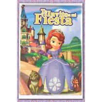 Invitaciones Princesa Sofia 8.5x12.5 Cm C/sobre (paq.20 Pz)