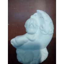 Recuerdos Niña Luna Yeso Ceramico Blanco Pintar Paq. 35 Pzas