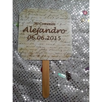 12 Invitacion Tipo Abanico Bautizo,comunion,presentacion,xv