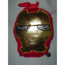 Peluche - Mochila De Iron Man De Marvel Bordada Calidad