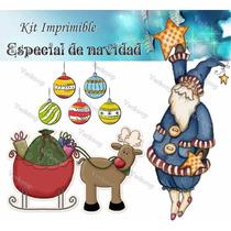 Kit Imprimible Especial De Navidad Tarjetas Cajas Scrapbook