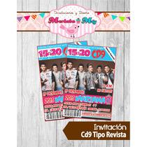 Invitacion De Cumpleaños Tipo Revista Cd9 Imprimela Tú!!