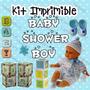 Kit Imprimible Baby Shower Niño - Decoraciones, Cajitas