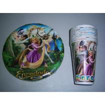 Afinpa Platos Vasos Globos Dulcero Fiesta Rapunzel Enredados