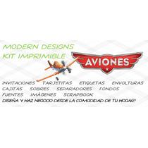 Kit Imprimible Aviones Adornos Invitaciones Recuerdos Y+