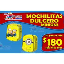 10 Mochilitas Dulceros Minions Para Cumpleaños Sp0