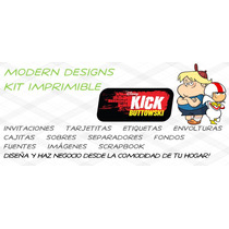 Kit Imprimible Kick Buttowski Doble De Riesgo Adornos Y+