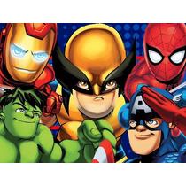 Kit Imprimible Escuadron De Superheroes Candy Bar Tarjetas#1