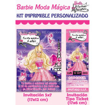 Kit Imprimible Barbie Moda Mágica París