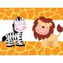 Kit Imprimible Animalitos Selva Invitaciones Candy 2x1
