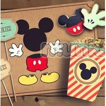Kit Imprimible Mickey Vintage Personalizado Listo P Imprimir