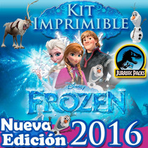 Mega Kit Imprimible Frozen 2x1 Fever Invitaciones + Cajitas