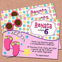 Invitaciones Princesas-fiesta Princesas-niñas-princess Party
