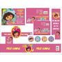Kit Imprimible Dora, Invitacion, Etiquetas, Dulceros Dora