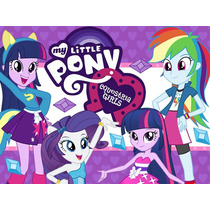 Kit Imprimible My Little Pony Equestria Girls Tarjetas 2x1