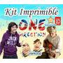 Kit Imprimible One Direction + Candy Bar Invitaciones Fiesta