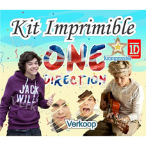 Kit Imprimible One Direction + Candy Bar Invitaciones Fiesta