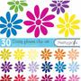 Kit Imprimible Flores Imagenes Clipart